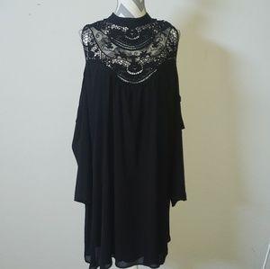 HeartSoul plus crochet neck cold shoulder dress 2X